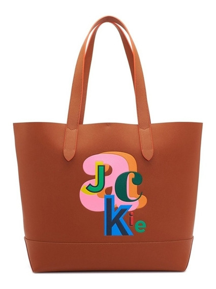 Cartera Cuero Jackie Smith Marron Suela Miele Type Series