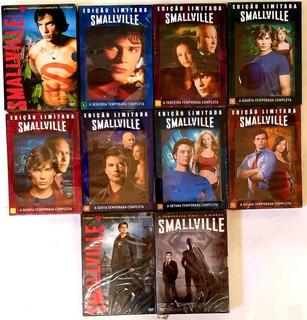 Box Smallville Dvds 1ª A 10ª Temporada Originais E Lacrados