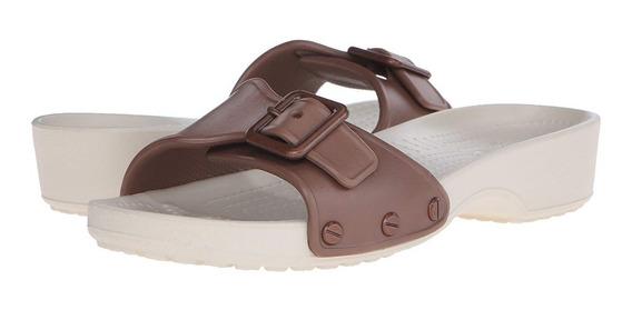Sandalia Crocs Sarah Sandals W Bronce / Stucco Para Dama