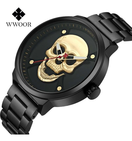 Wwoor Relógio Analógico Masculino Original Esporte