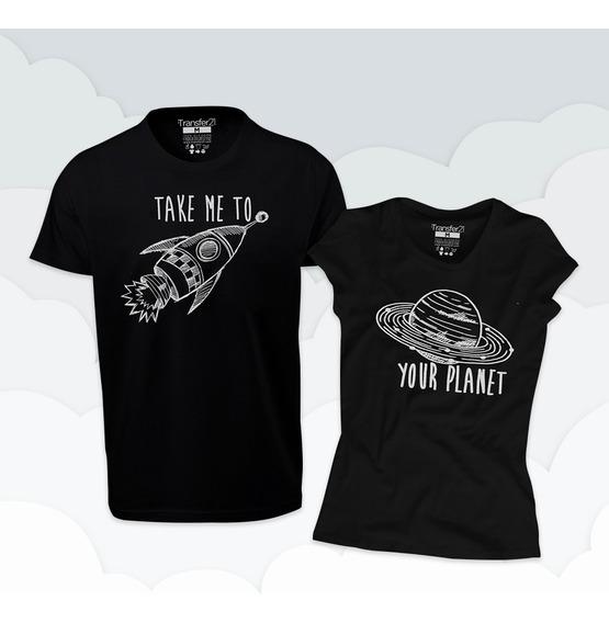 Playera Duo Novios Planetas Your Planet (2 Piezas)