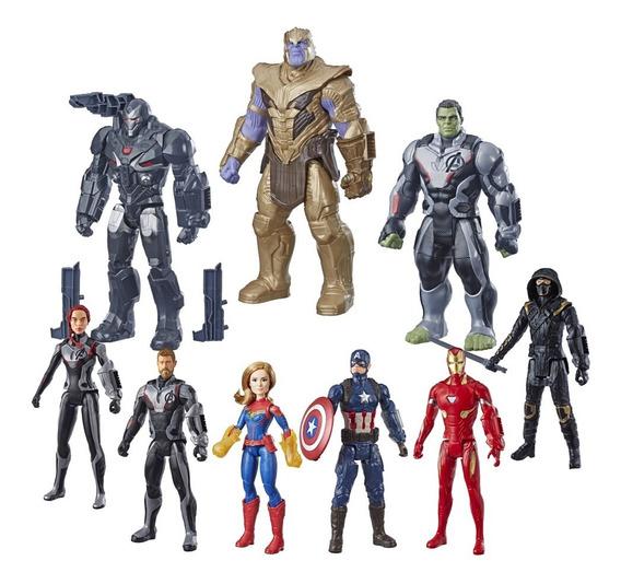 Kit Bonecos Vingadores Ultimato C/ 9 Herois Avengers Endgame