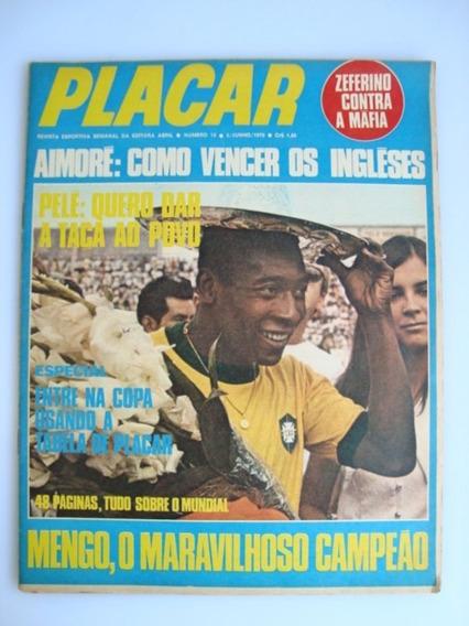 Revista Futebol Placar #012 Tabela Da Copa Do Mundo 1970