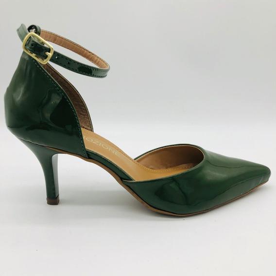 Mozione Sandália Sapatos Feminino Salto Alto Fino Com Fivela Conforto Macio