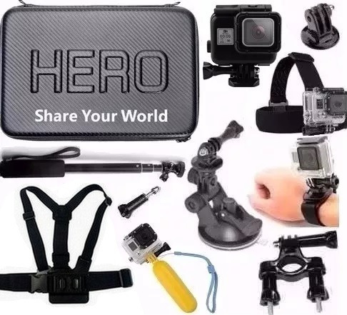 Kit Para Gopro Hero 5 Hero 6 Mala Grande Estanque Backdoor