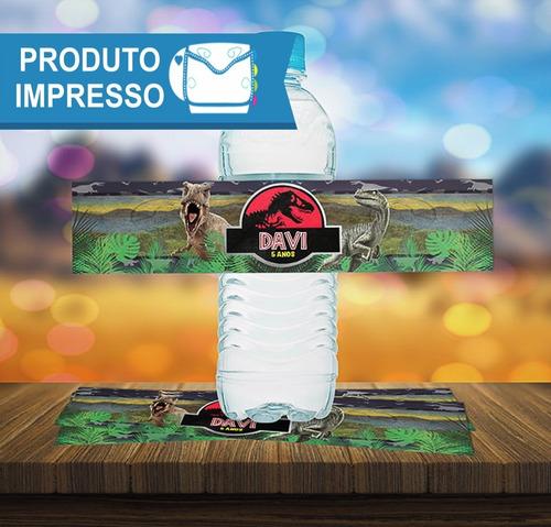 30 Rótulo Adesivo Água 500ml Jurassic Park + Frete Grátis