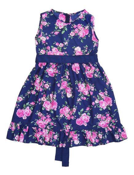 Vestido Nena Flores T. 2-4-6-8-10