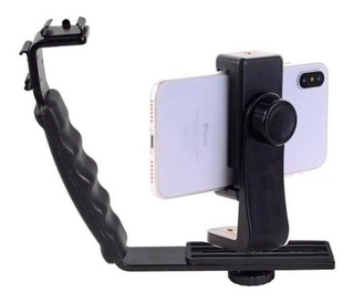 Bracket Celular Camara Dslr Incluye Zapata Sujetador Tripie
