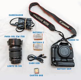 Câmera Canon T5i Lente 18-135mm Stm