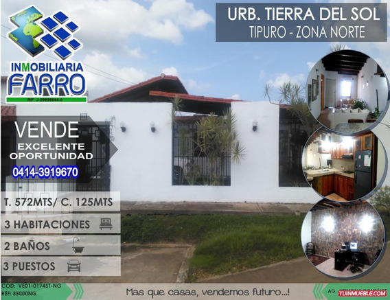 Venta De Casa En Tipuro Ve01-0174st-ng