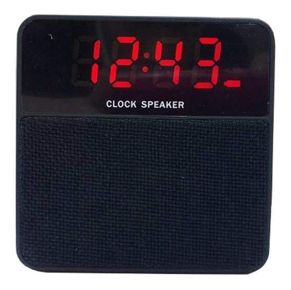 Caixa De Som Bluetooth Com Despertador Radio Fm Bluetooth