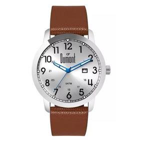 Relógio Dumont Masculino Du2115aae/3k Couro Loja Autorizada