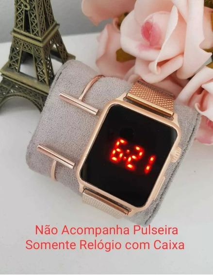 Relógio Digital Feminino Quadrado Touch Screen Várias Cores