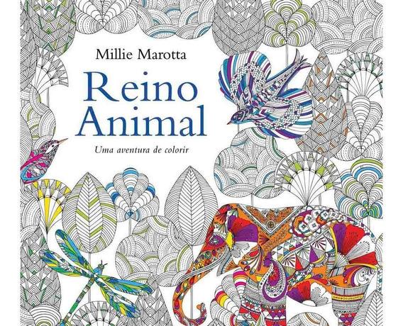 Livro De Colorir Reino Animal Criativo Antiestresse 96 Pág