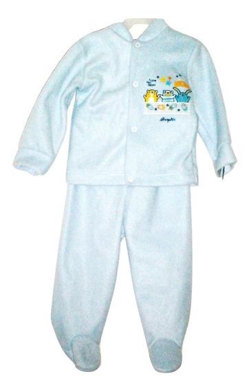 Mameluco Pijama Bebé Afelpado 2 Piezas Blusa + Pantalon Animalitos Niño + Gorro Talla 6 Meses Liquidacion $290a