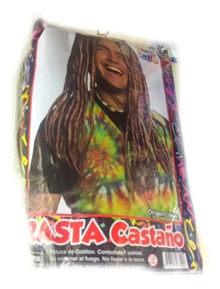 Peluca Rasta Castaño - Fiesta & Eventos La Golosineria