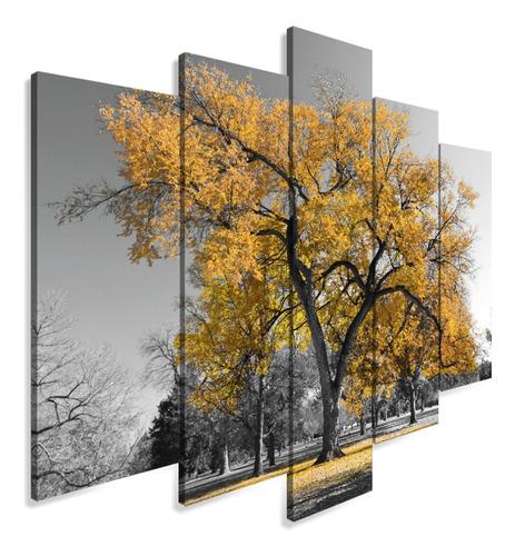Quadro Decorativo 129x63 Arvore Kit Mdf Mosaico Sala Quarto