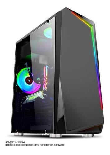 Imagem 1 de 5 de Computador Deutel Gamer Intel I3 10100f Mem 8gb Hd 500 500w