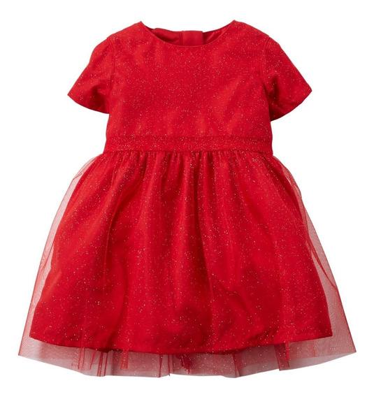 Vestido De Niña Bebe Marca Carters Rojo