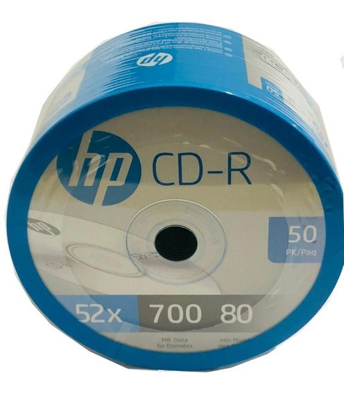 Cd-r Hp 50 Pzas 700mb 80min 52x Leer Descripción!!!!