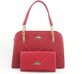 Bolsa Feminina Kit Com Bolsa Grande E Carteira Em Até 12x