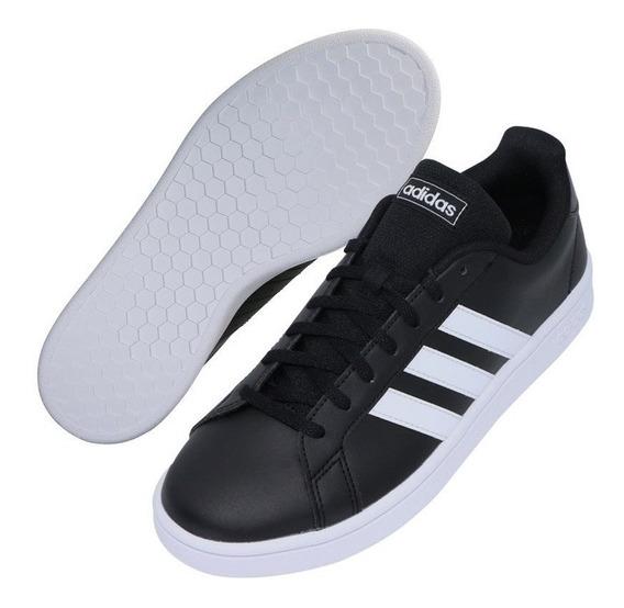 Tenis adidas Grand Court Base Negro Blanco 23-27 Originales