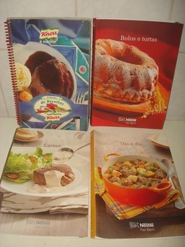 Lote C/ 4 Livros Antigos De Receitas - Knorr E Nestlé -