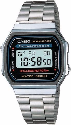 Relógio Cassio Unissex A-168 Retro - Prata Original Na Caix