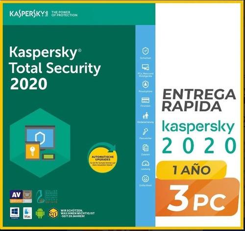 Imagen 1 de 1 de Imei - Kaspersky Antivirus Total Security 2021 3 Pc 1 Año