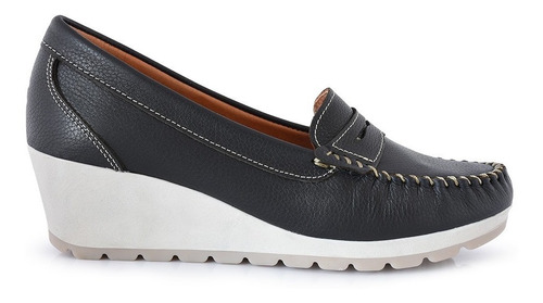 Imagen 1 de 10 de Mocasin Zapato Mujer Cuero Briganti Confort - Mcmo03629 Fl