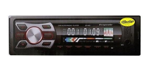 Radio Automotivo Ecopower Ep-603 Bluetooth Usb Aux +controle