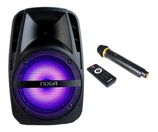 Parlante Portatil Bluetooth Karaoke Con Microfono Noga Fm 25
