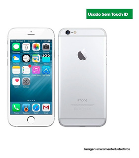 Apple iPhone 6 128 Gb Silver - Usado Excelente S/ Touch Id