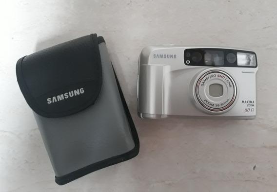 Câmera Analógica Vintage Samsung 80ti (para Decoração)