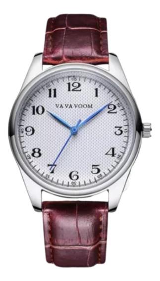 Relógio Luxo Masculino Pulseira Couro - Pronta Entrega