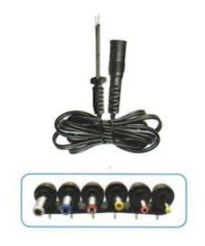 Imagen 1 de 1 de Juego De Conectores Plug Y Cable Para Adaptador Ca/cc Multip