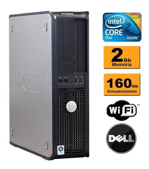 Computador Dell Core 2 Duo E8400 Ddr3 2gb Hd160gb Wifi