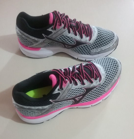 Tenis Mizuno Wave Mirai P Running Grafite/rosa