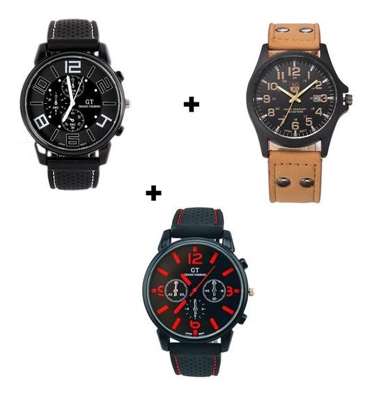 Kit 3 Relógios Masculinos Diferentes Para Qualquer Situação