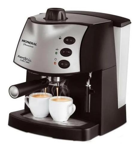 Imagem 1 de 1 de Cafeteira Mondial Espresso C-08 1850-02 Automática Preta Expresso 110v