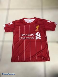 Camisa Liverpool Juvenil Salah Tamanhos 6/8/10/12/14 Anos
