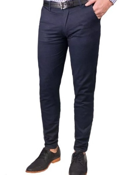 Pantalon Hombre De Vestir - Set X 2 - Tela Gabardina