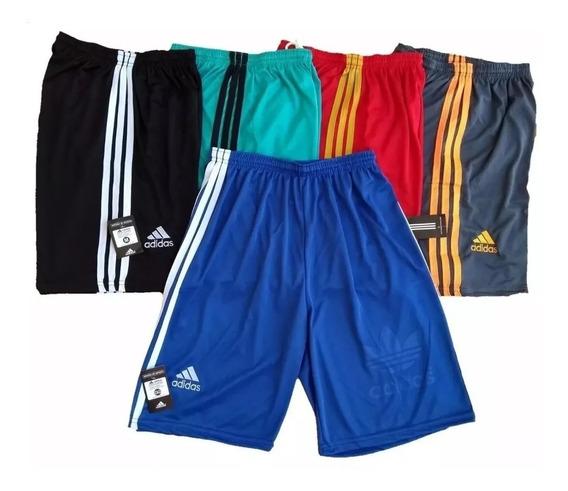 Kit Com 3 Shorts Calção Futebol Academia Treino Oferta