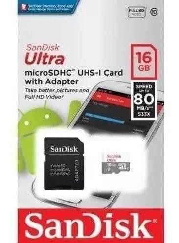 Cartão De Memória Sandisk Ultra Classe 10 Original Lacrado