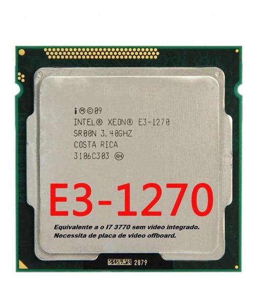 Processador Intel Xeon E3 1270 V1 3.4 Equivale I7 3770k