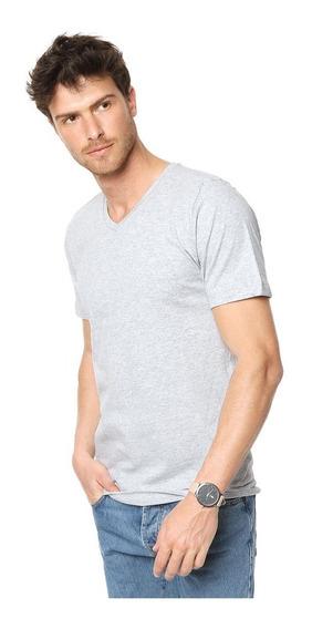 Remeras Entalladas Hombre Slim Fit Escote V 100% Algodón