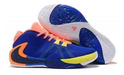 Zapatos Nike Zoom Freak 1 Azul Naranja
