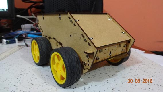 Kit Chassi Robô Orion Carro 4 Rodas Arduino Padrão Obr