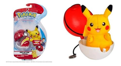 Pokémon Pop Action Pikachu + Pokébola - Mundo Plush - Wct