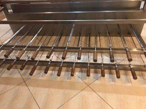 Churrasqueira Giratória Inox Grill 25 Espetos
